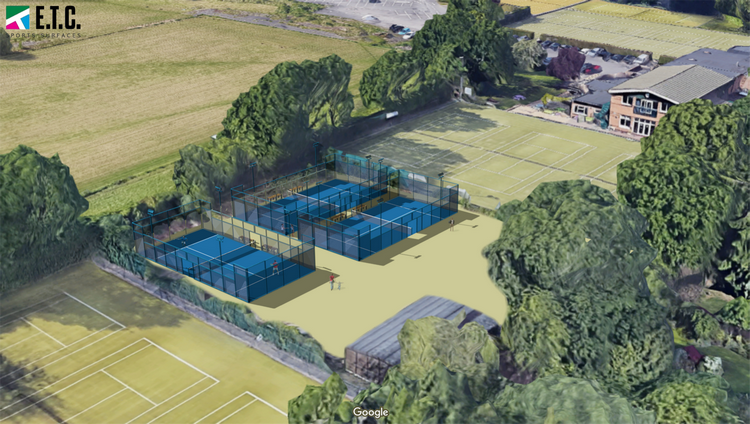 An artist impression of the completed padel courts